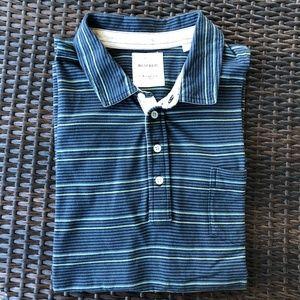 Billy Reid Polo in Stripe Pocket